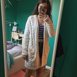 cute & cozy fall/winter sweatshirt/vest